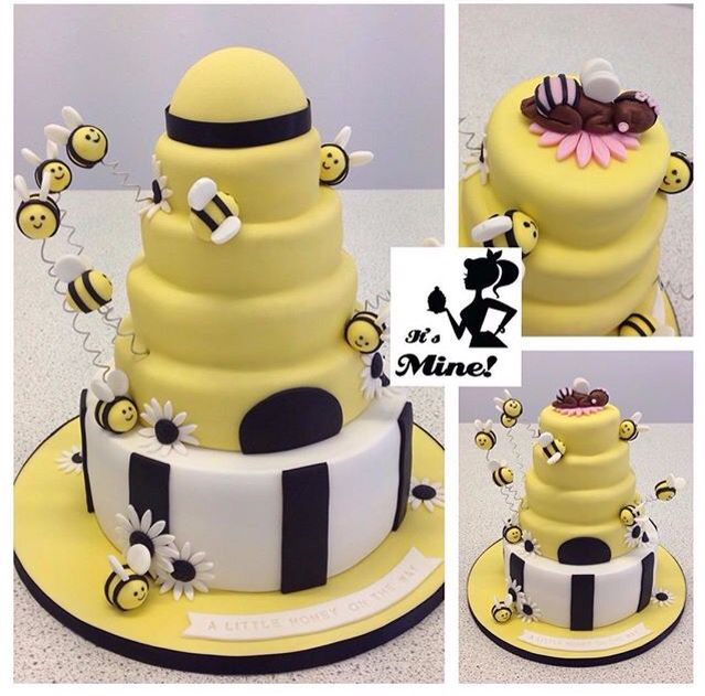 A Yellow Black And White Gender Reveal Bumblebee Beehive Baby Shower