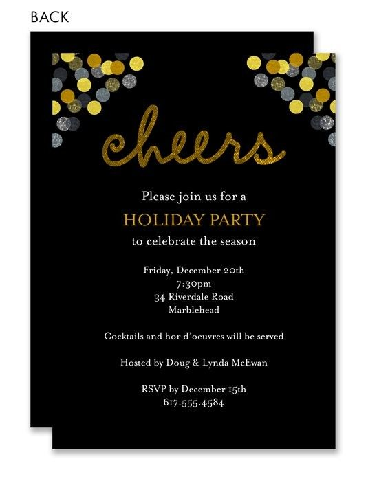 Cheers Gold Confetti Invitation by Noteworthy Collections at