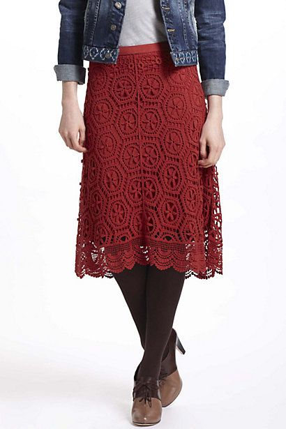 want!!! Doily Lace Skirt - Anthropologie.com