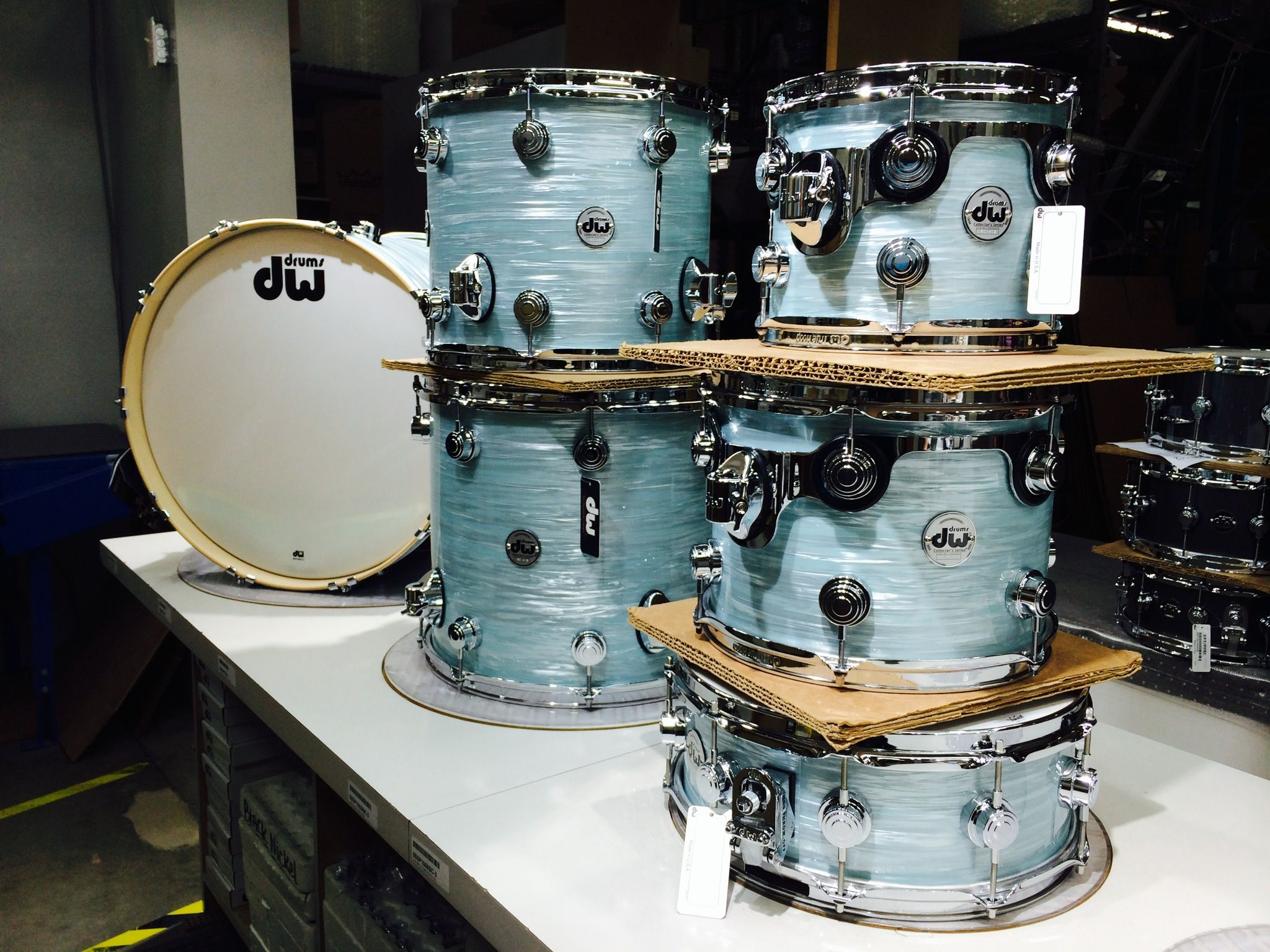 Pale Blue Oyster | Factory Drums in 2019 | Snare drum ...