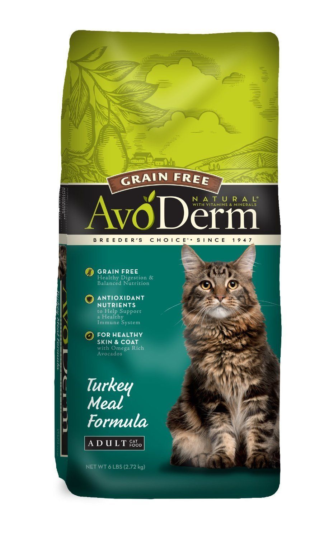 AvoDerm Natural Grain Free Turkey Meal Adult Cat Food, 6