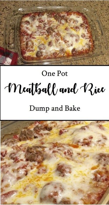 One Pot Meal #14: Meatball and Rice Dump and Bake images