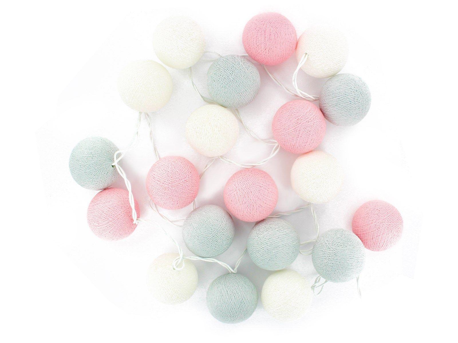 kugel lichterkette 20 handgefertigte kugeln marshmallow pinterest rosa grau lichterkette. Black Bedroom Furniture Sets. Home Design Ideas