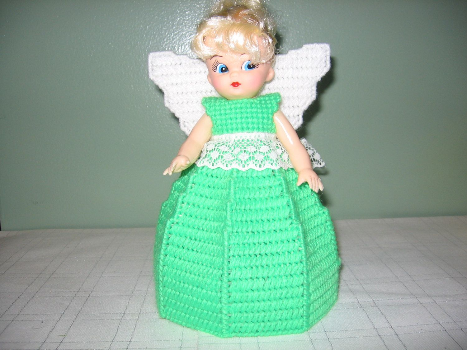 Light Green Angel Air Freshner or Angel Tree Topper Collectible Doll by CreationsbyAMJ on Etsy #airfreshnerdolls