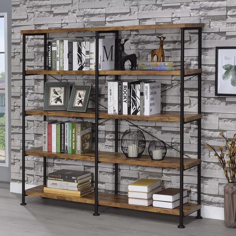 Mccaleb 63 H X 60 W Metal Etagere Bookcase Etagere Bookcase Coaster Furniture Bookcase