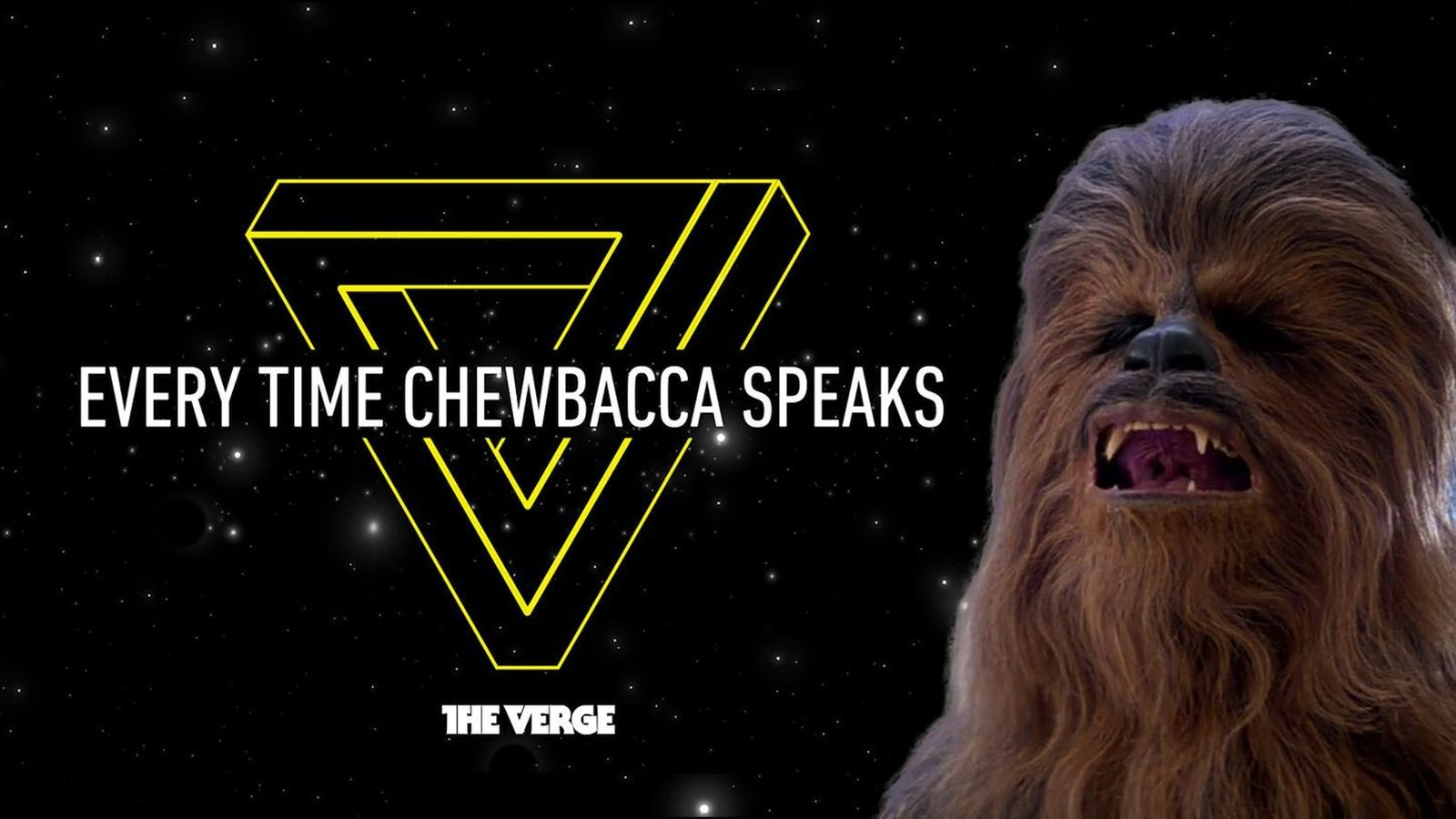 Star Wars, told through the dialogue of our favorite Wookiee.