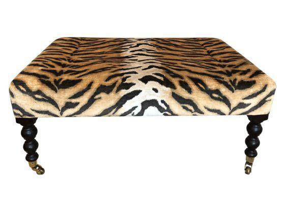 Pleasing George Smith Leopard Ottoman In 2019 Benches Ottomans Inzonedesignstudio Interior Chair Design Inzonedesignstudiocom