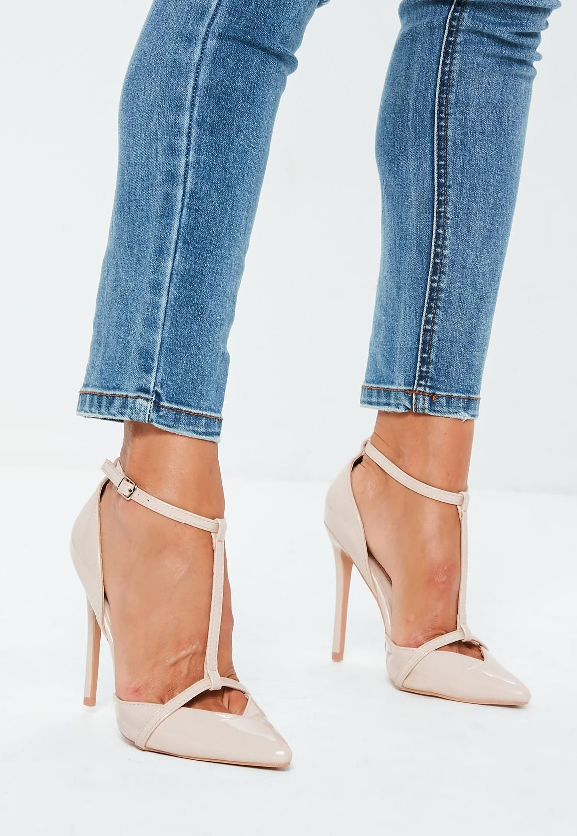 2c78c7fb638 Missguided - Nude T Bar Pumps