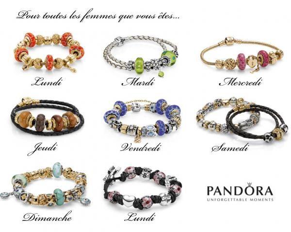 bracelet pandora bleu cuir