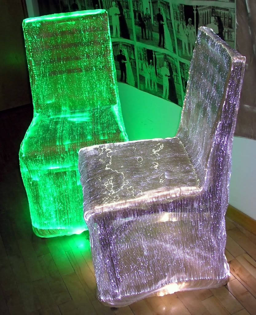 Illuminated Chair Covers Dinner Decor Blacklight