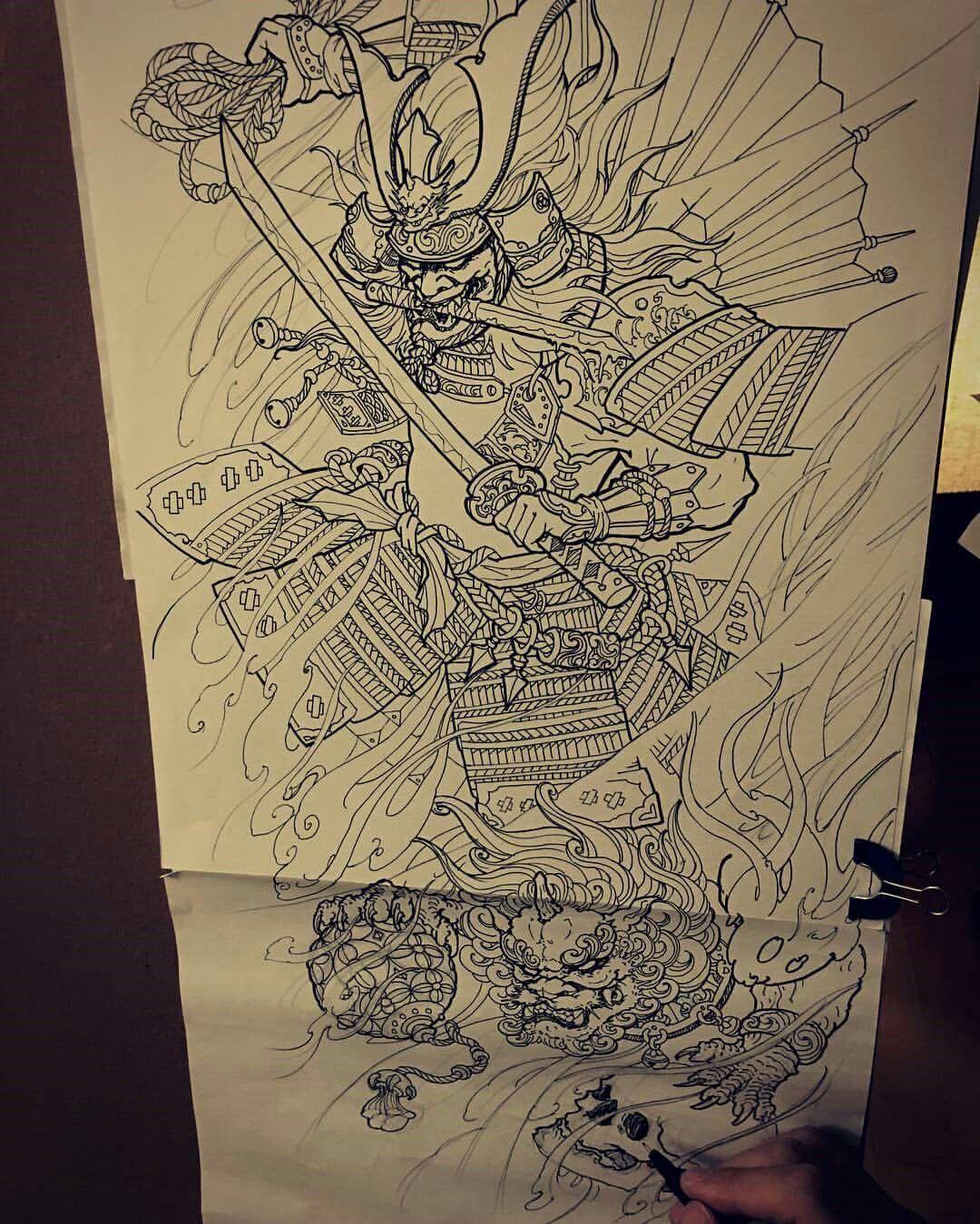 pingl par qu c sang ng sur t ng h nh x m pinterest samourai tatouages et dessin tatouage. Black Bedroom Furniture Sets. Home Design Ideas