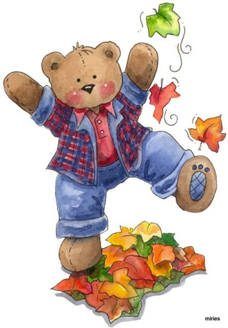 AUTUMN / FALL TEDDY BEAR CLIP ART