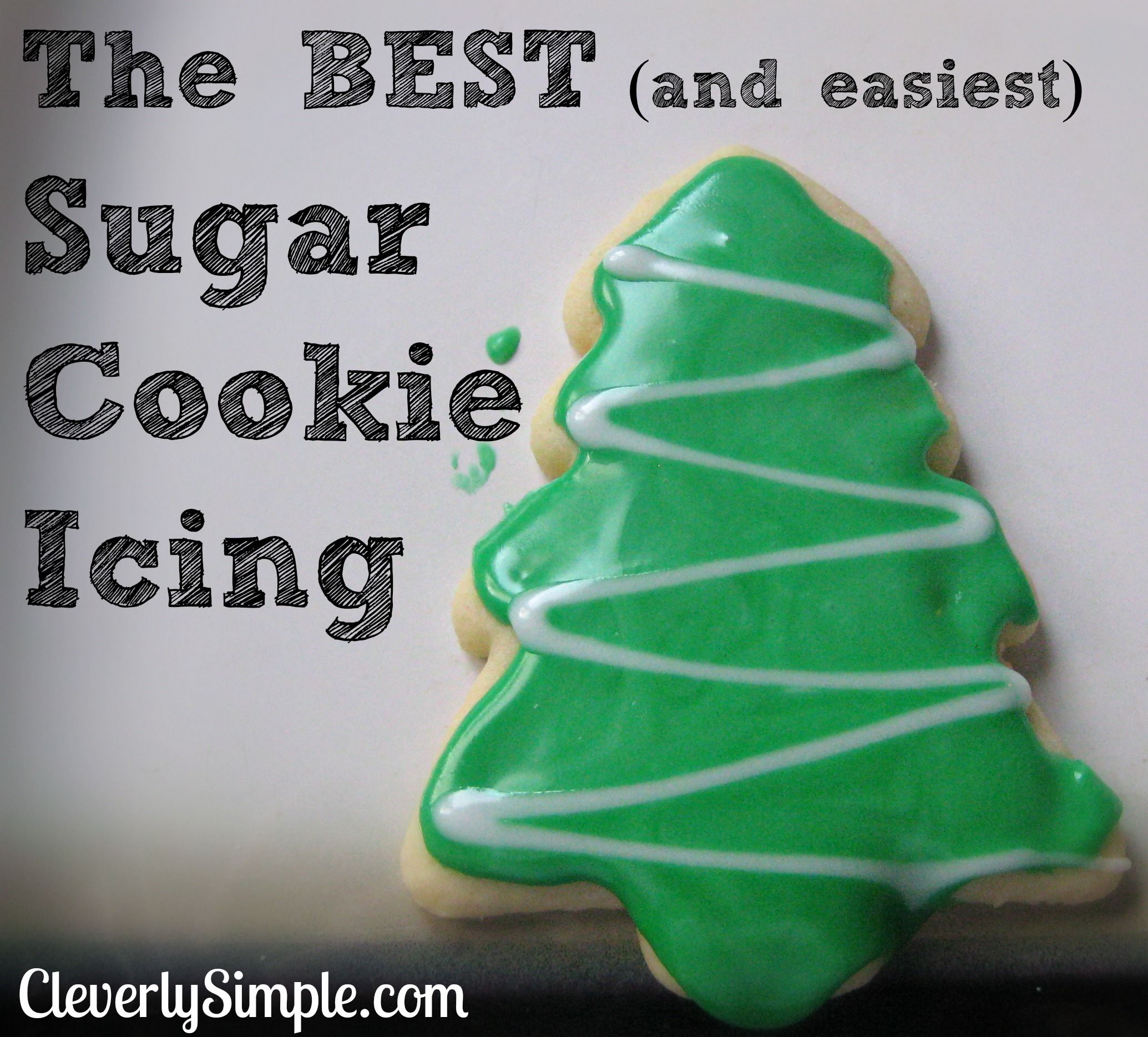 This easy sugar cookie icing is the best recipe. Using powdered sugar and milk, you'll have your sugar cookie icing made in minutes.
