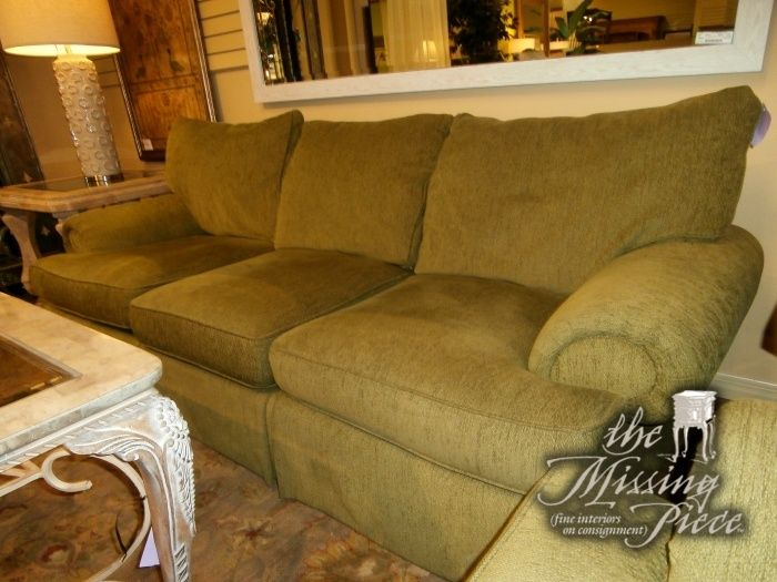 Michael Thomas Three Cushions Sofa In Moss Green Measures 88 37 36 Matching Loveseat Available At Time Of Posting