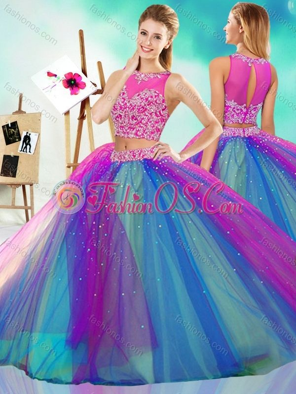 Rainbow Colored Big Puffy Detachable Quinceanera Skirt with See ...