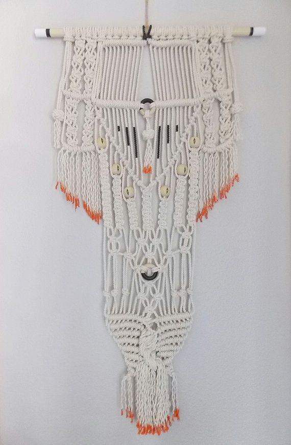 Modern Macrame Knotted Wall Hanging No 26 By Himo Art One Of A Kind Handcrafted Macrame Home Decor