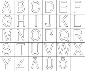 Grossbuchstaben Zum Ausdrucken Buchstaben Vorlagen Zum Ausdrucken Buchstaben Vorlagen Buchstabenerkennung