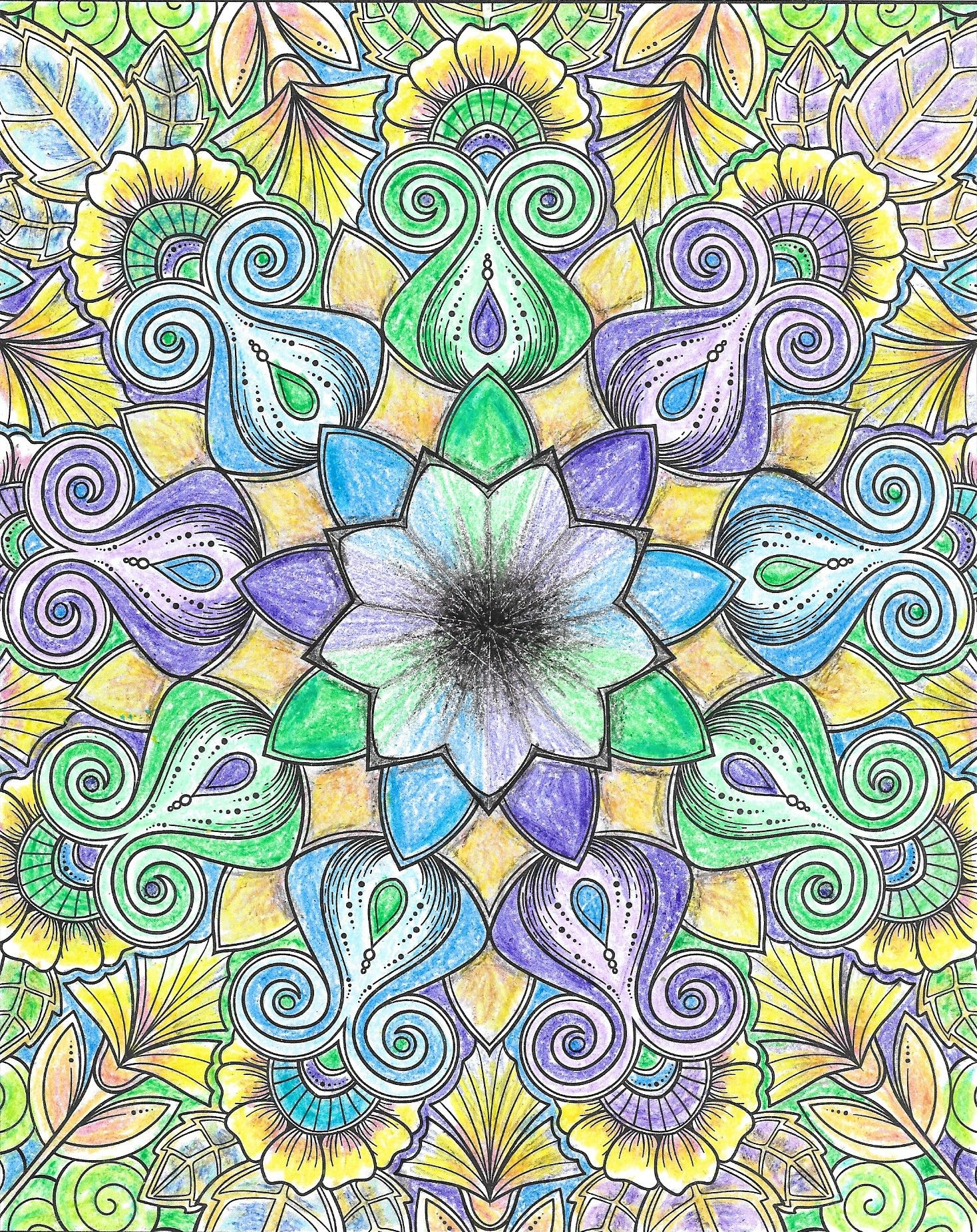 George\'s Penny Dell Coloring Book Image 10 / Crayon   Mandalas ...
