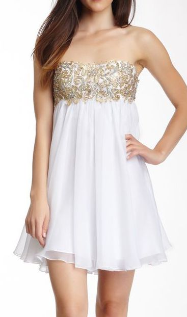 La Femme Embellished Strapless Dress  de27e59cc2