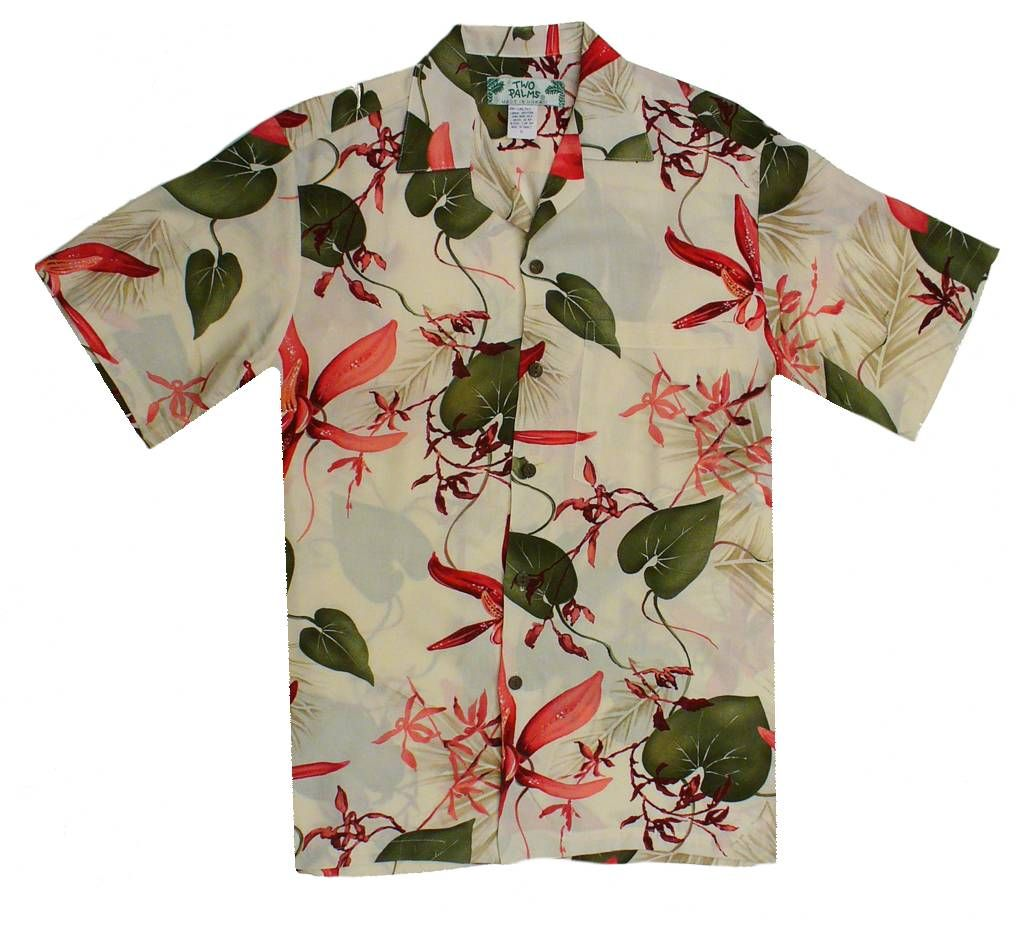 Two Palms - Gallo - Hawaiian Aloha Shirt - Cream, Men's Tropical Hawaiian  Clothing,
