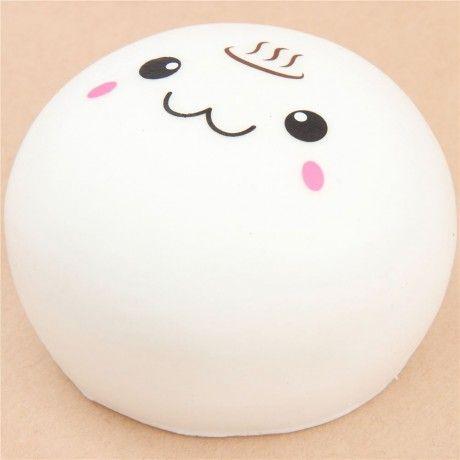 cute white steam bun food squishy kawaii | Squishies kawaii ...