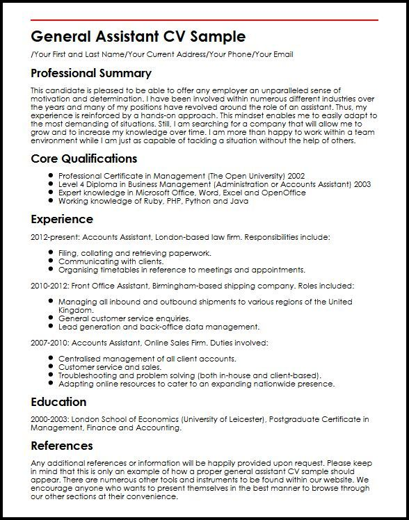 Examples Of Resume Summary 5 General Photo Images