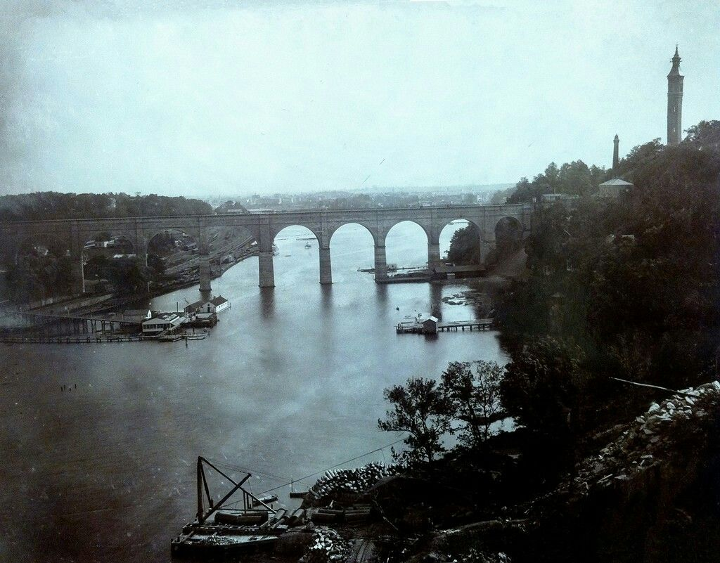 High bridge from washington heights with the bronx to the