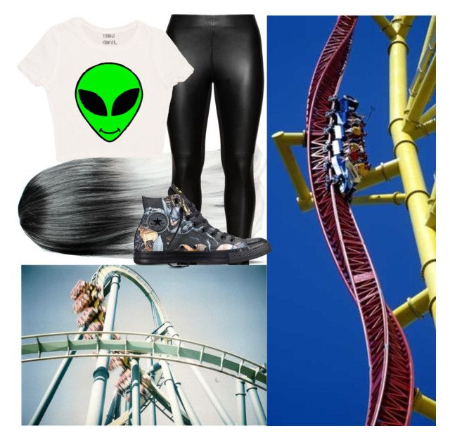 """Roller Coasters!!!"" by onedirection-emblem3 ❤ liked on Polyvore featuring Studio and Converse"