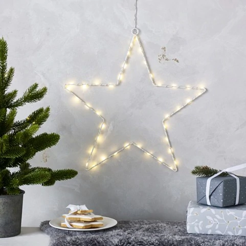 Search Star The White Company Us Star Christmas Lights Hanging Stars Decorating With Christmas Lights