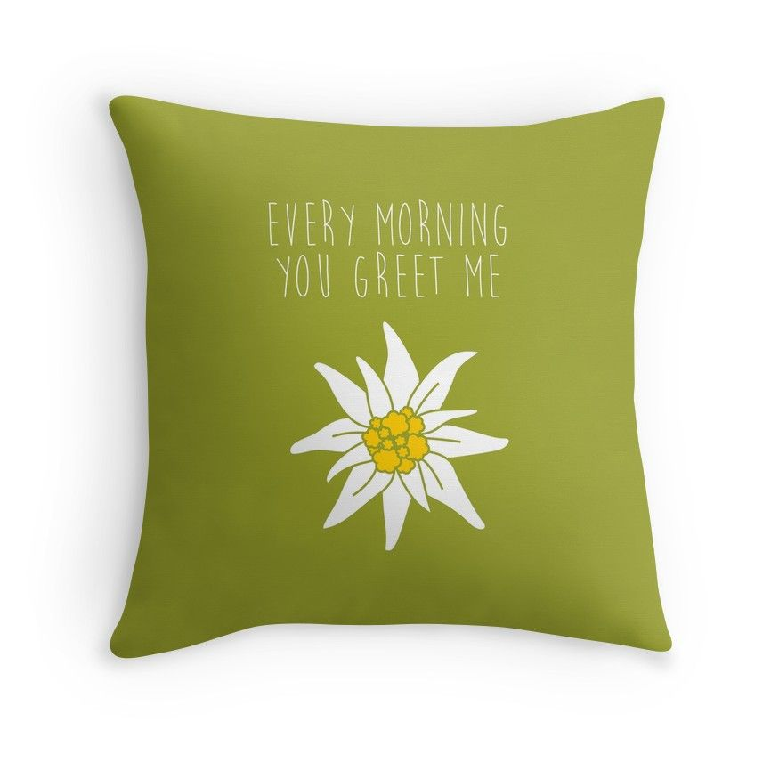 Every morning you greet me sound of music throw pillow products every morning you greet me sound of music throw pillow m4hsunfo