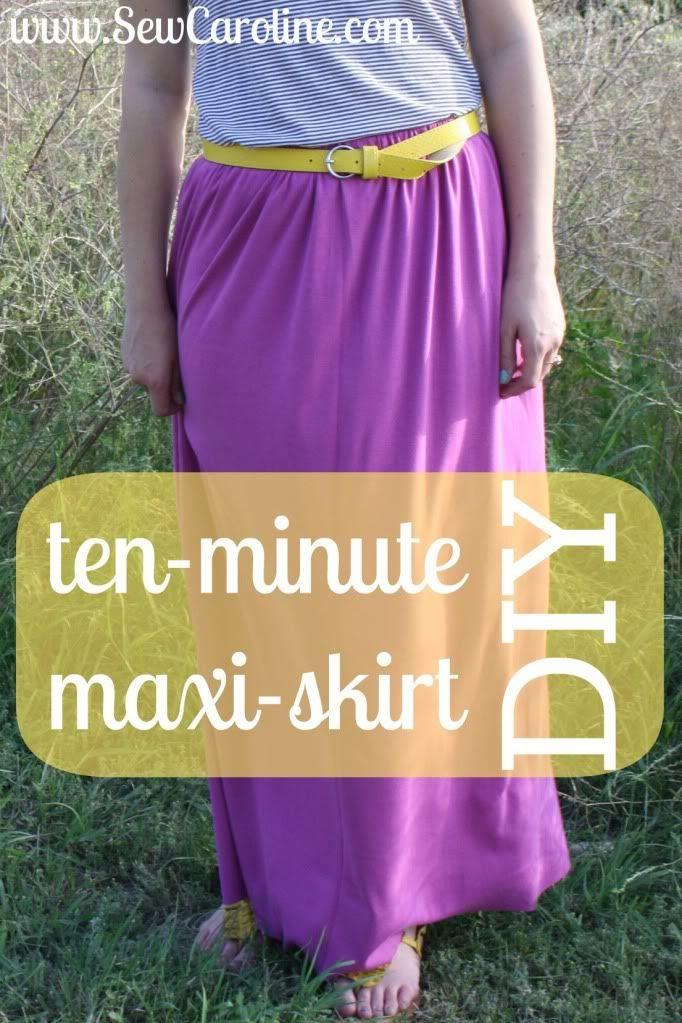 ten minutes maxi skirt | sew caroline | Sew Addicting | Pinterest ...