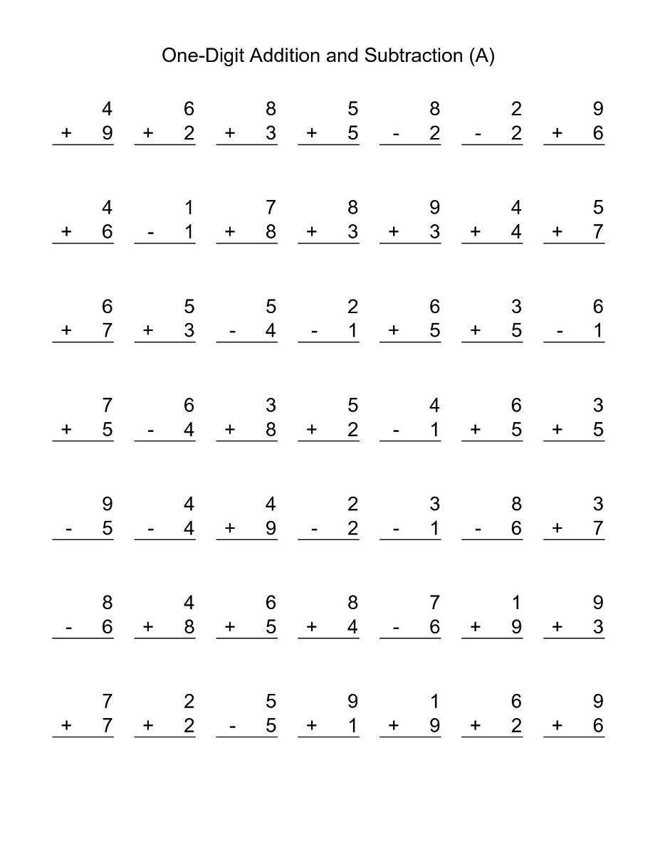 Free Printable Basic Math Worksheets   Basic math worksheets [ 1200 x 927 Pixel ]