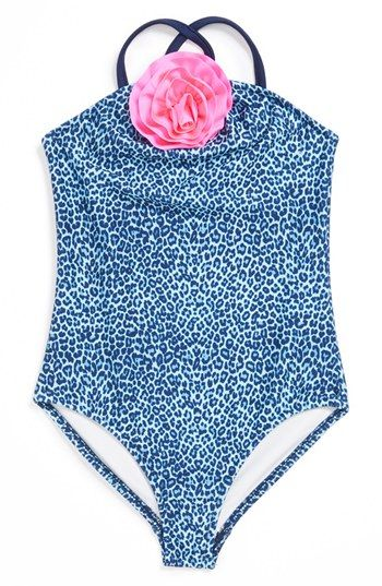 Love U Lots Cheetah Print Swimsuit (Toddler Girls & Little Girls) available at #Nordstrom