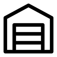 Garage Line Icon Vector