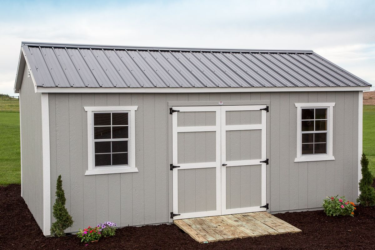 This 12x20 Storage Shed Is Built Smart Sharp And Tough Byler Built Quality Through And Through Your Shed Comes Profession In 2020 Shed Storage Shed Building A Shed