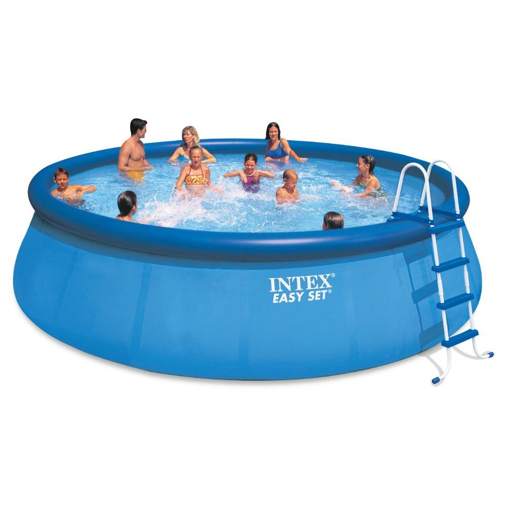 Intex 18\' X 48 Easy Set Pool Set, Blue