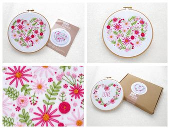 New Kit /  Fabric Pack now Available! https://www.etsy.com/in-en/shop/ohsewbootiful  #embroidery #hoopart #handmade #etsy #valentinesgift #giftideas
