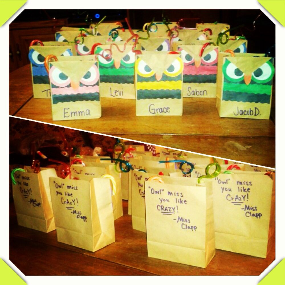Classroom Gift Ideas For Students : Student goodbye gifts bags crafts pinterest students