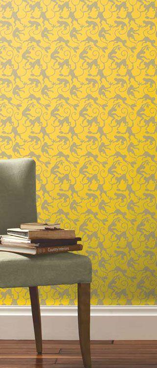 Monkey Business Bamboo Designer Wallpaper   Интерьер в деталях ...