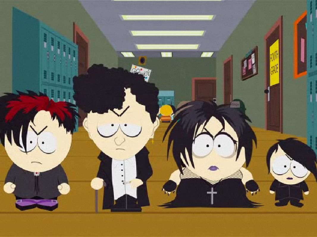 Top 10 Wacky Holiday Observances South Park Goth Kids South Park Goth Kids