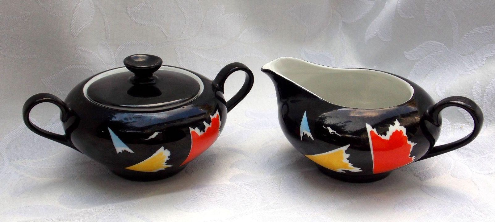 Mlecznik I Cukiernica Z Zestawu Julita Wawel Proj Edmund Ruszczynski Sugar Bowl Set Bowl Set Design