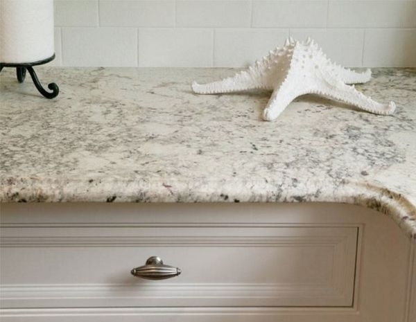 Contemporary Bianco Romano granite countertops ❤ with white - arbeitsplatten für die küche