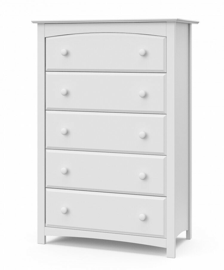 Chest Of Drawers Large Five 5 Drawer Baby Kids Bedroom White