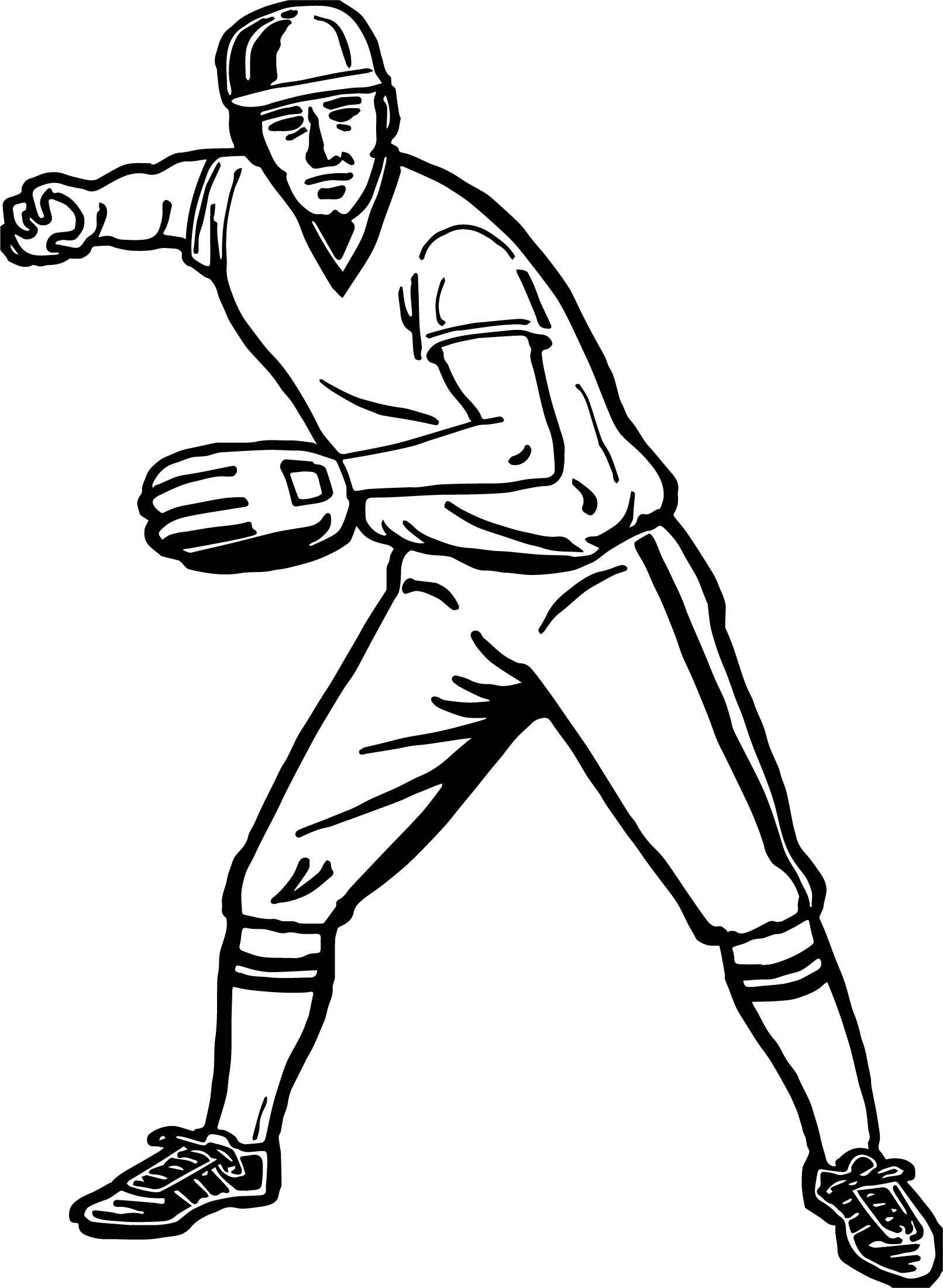 cool Throw Baseball Coloring Page Baseball coloring