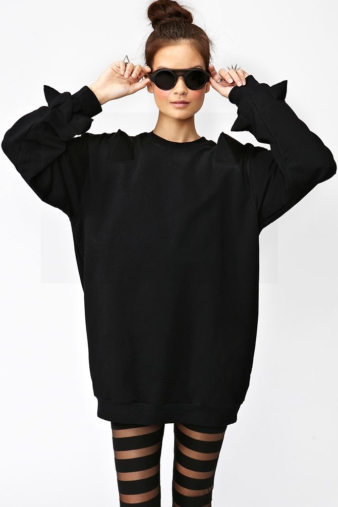 Spiked Sweatshirt in What's New at Nasty Gal