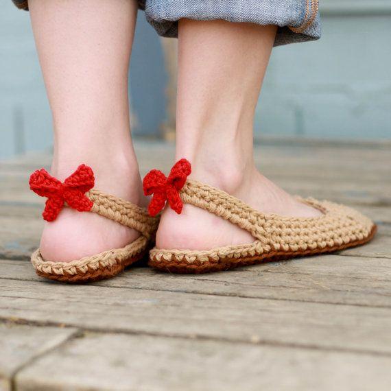 Crochet Slipper Pattern - Slingbacks (Woman sizes 3-12) | Häkeln ...