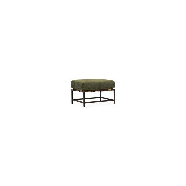 Military Canvas Ottoman ❤ liked on Polyvore featuring home, furniture, ottomans, military furniture and canvas furniture