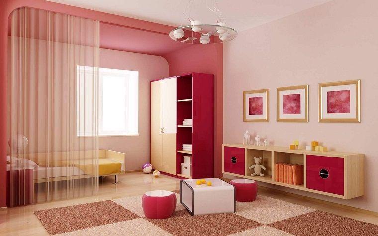 colori pareti nuance rosa cameretta bimba   INTERIOR DESIGN   Pinterest
