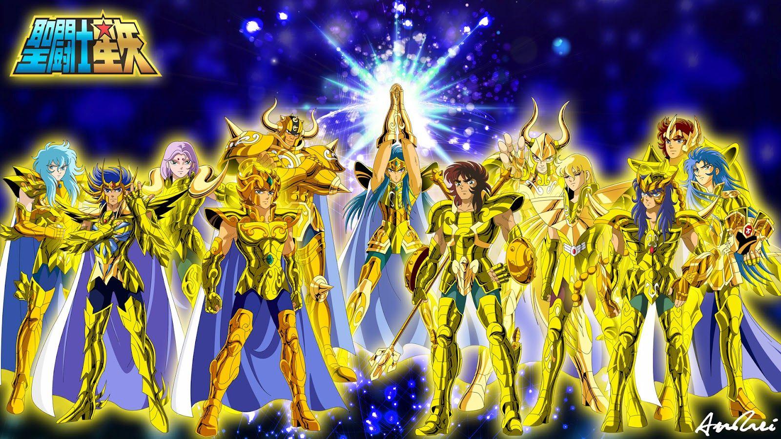 Os 12 Cavaleiros De Ouro Cavaleiros Do Zodiaco Cavaleiro Cdz