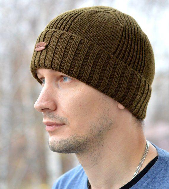 Men s Hat   Men s Beanie   Knitted Hat for Men   Knit Beanie   Woolen Hat    Handmade Knitted Hat   ca2aa332e6f